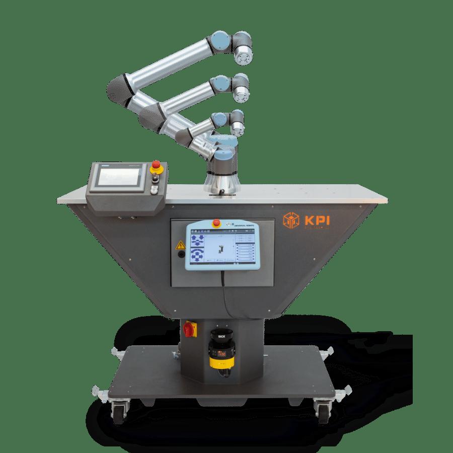 Roboterzelle mit 3 Typen von Universal Robots