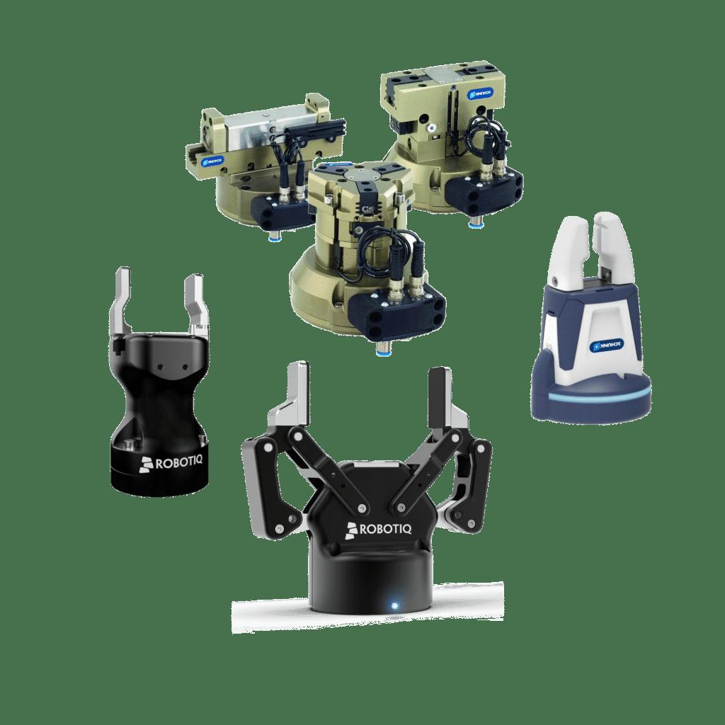 Robotergreifer elektrisch und pneumatisch von Schunk. Robotiq und OnRobot