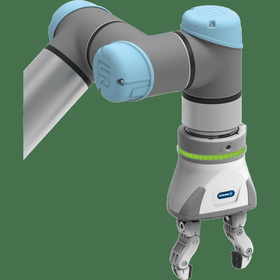 Flexibler Elektrogreifer mit großem, einstellbaren Hub für die einfache Automatisierung mit Cobots