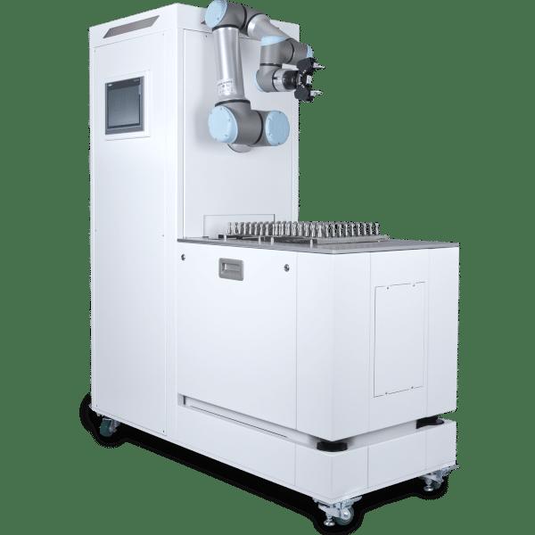 Palettierersystem für Universal Robots und Roboter, Zuführung und Stacker mit UR16e