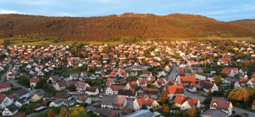 Stadt Denkingen Luftaufnahme