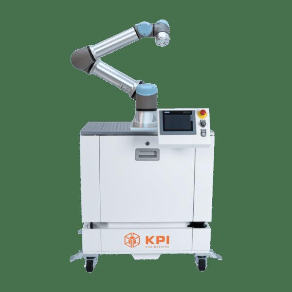 Roboterzelle mit Universal Robots UR5e und Bereichsscanner