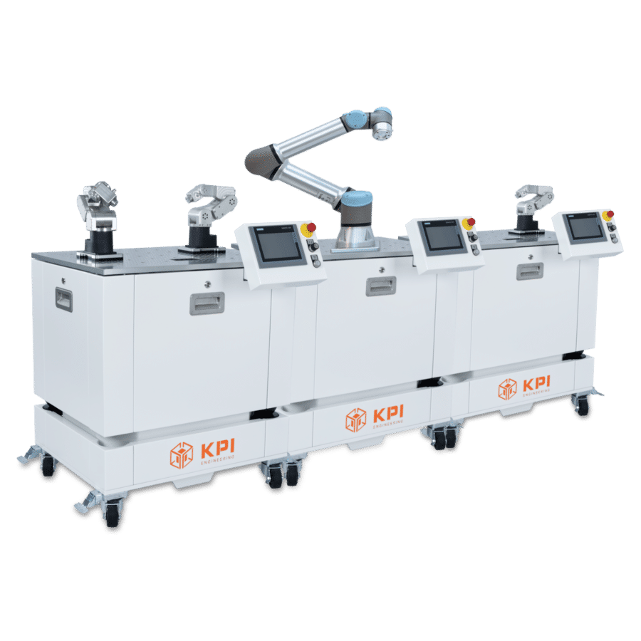 Roboterzelle als Linie Leichtbauroboter, Cobots und Roboter mit UR und Mecademic