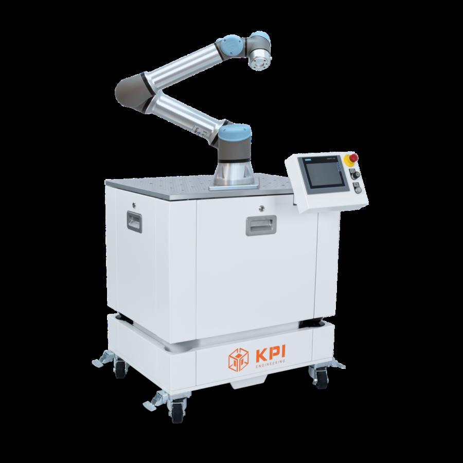 Roboterzelle UR5e mit Siemens Touchpanel