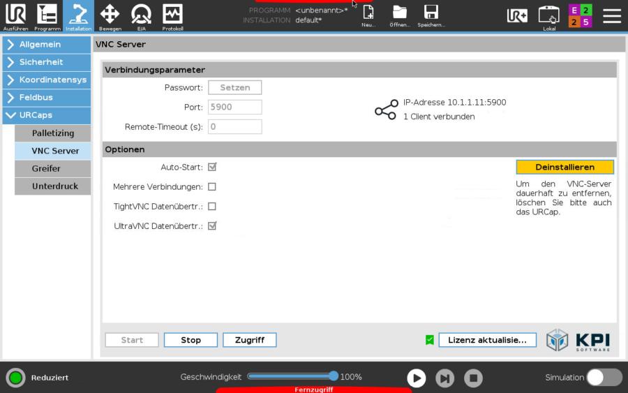 UR Caps VNC Server für Universal Robots