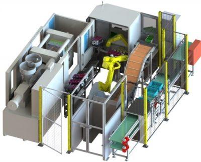 Automatisierung Spritzguss Fanuc Roboter M10 M20 Industrieroboter